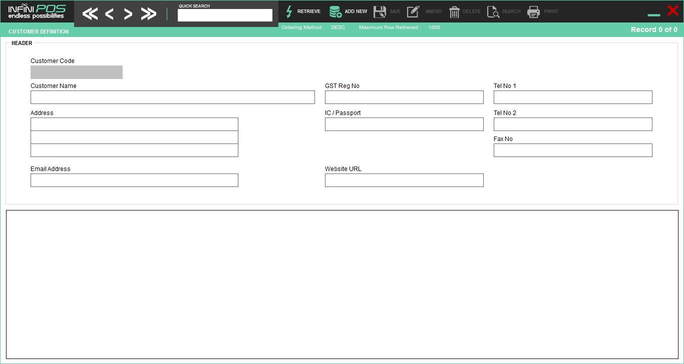 Customer Profile Control Panel